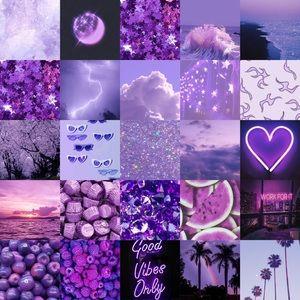 Purple photo wall kit.